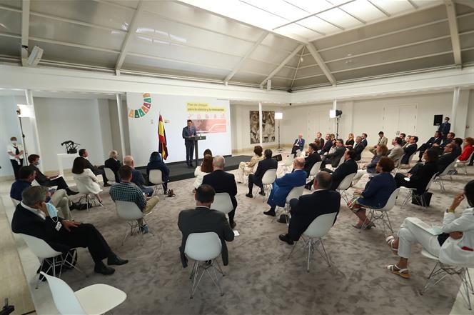 9/07/2020. Sánchez presenta el Plan de choque por la Ciencia y la Innovación. El presidente del Gobierno, Pedro Sánchez, durante la presenta...