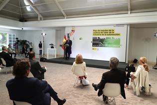 Pedro Sánchez durante la presentación