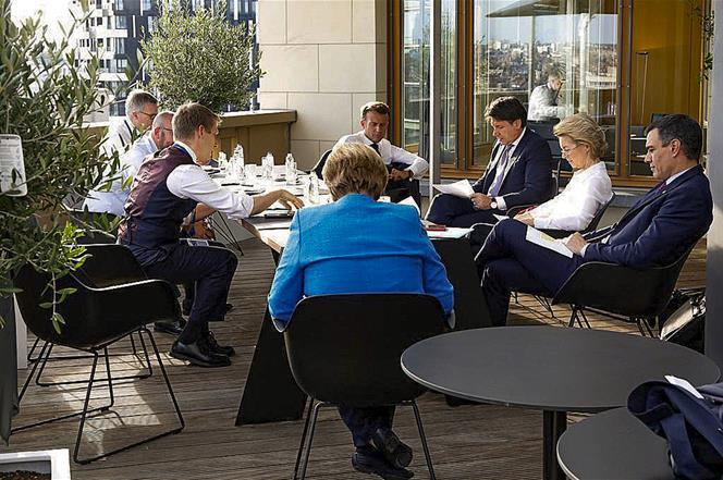 18/07/2020. Pedro Sánchez asiste a la reunión del Consejo Europeo extraordinario en Bruselas. El presidente del Gobierno, Pedro Sánchez, jun...