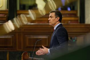 El presidente del Gobierno, durante su comparecencia en el Congreso de los Diputados