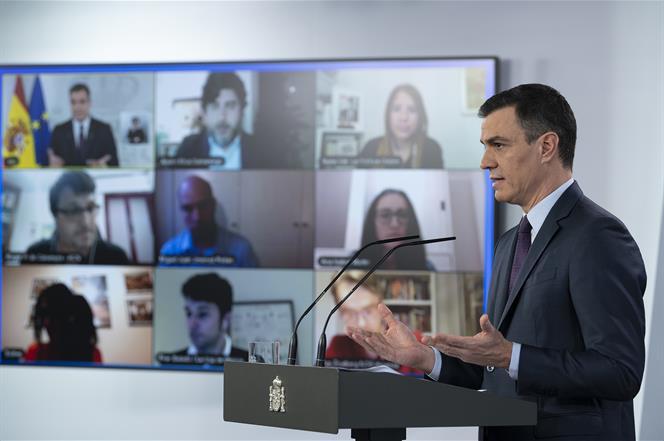25/04/2020. El presidente del Gobierno anuncia nuevas medidas de alivio del estado de alarma. El presidente del Gobierno, Pedro Sánchez, anu...