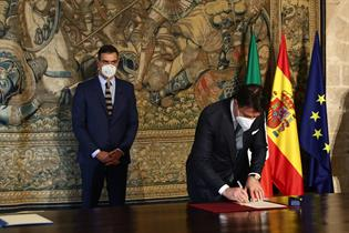Pedro Sánchez y Giuseppe Conte