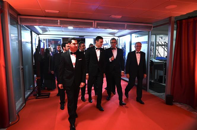 25/01/2020. Pedro Sánchez asiste a la 34 edición de los Premios Goya. El presidente del Gobierno, Pedro Sánchez, a su llegada al Palacio de ...