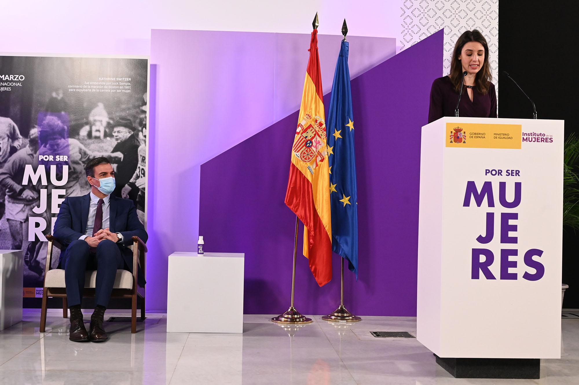 La ministra de Igualdad, Irene Montero, durante su intervención