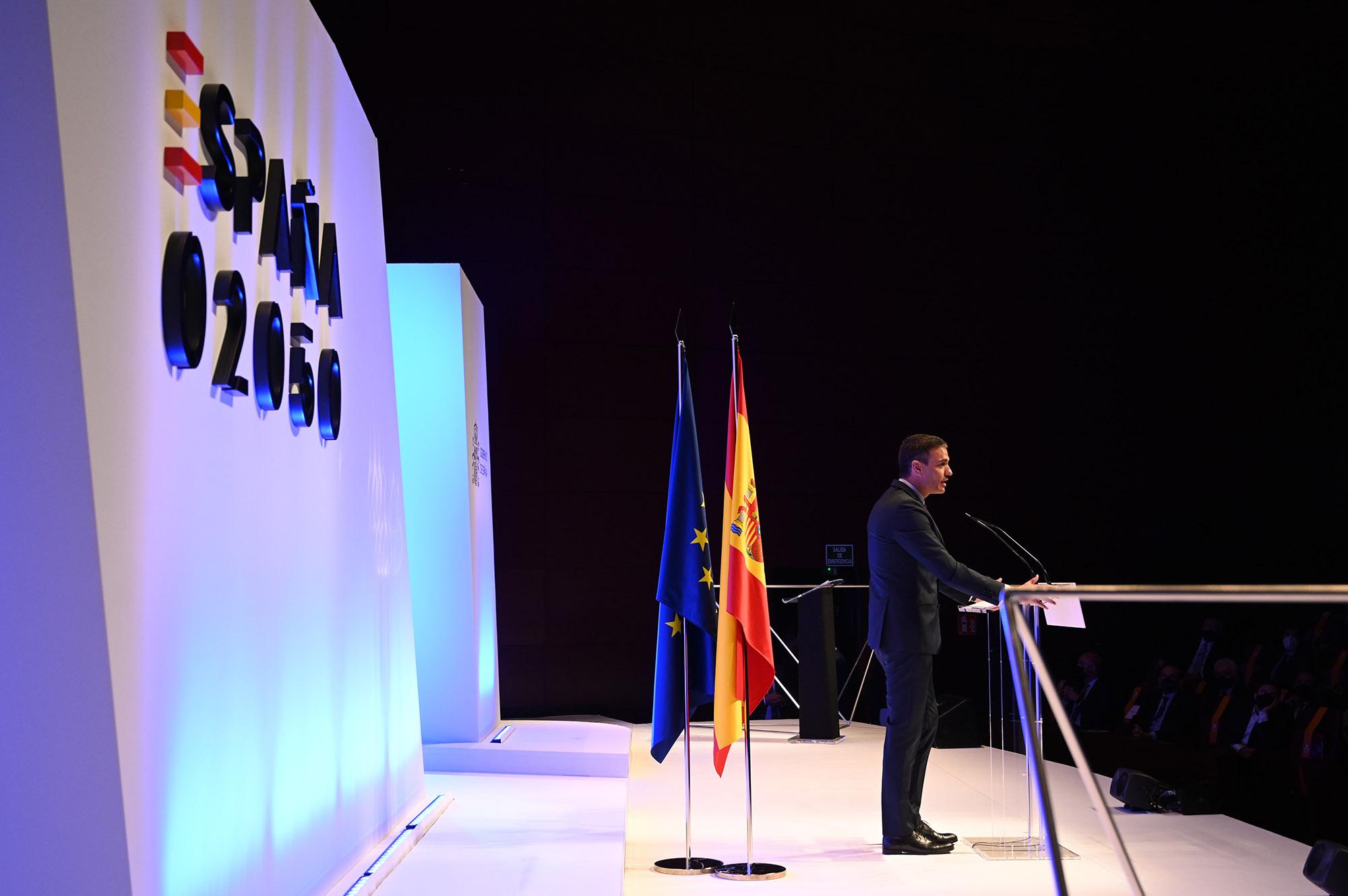 El presidente del Gobierno durante su intervención en el acto