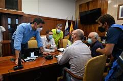 Sánchez, en la reunión del Comité Director del Plan Especial de Protección Civil y Atención de Emergencias por Riesgo Volcánico