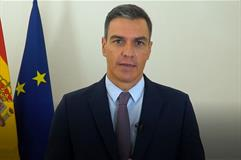El presidente Pedro Sánchez durante su intervención en la Cumbre 'Ending the Pandemic and Building Back Better'