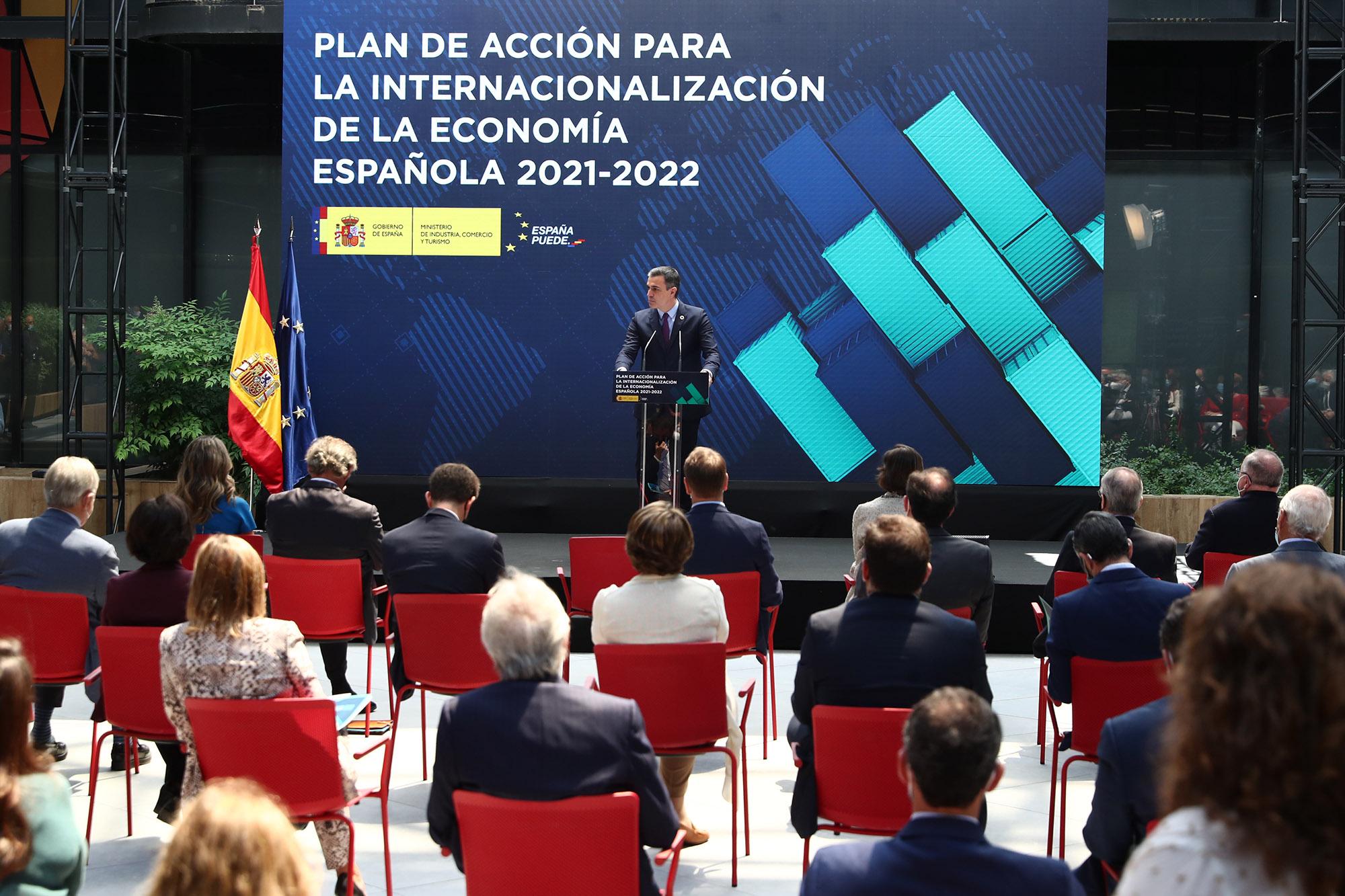 El Primer Ministro durante su discurso en el evento