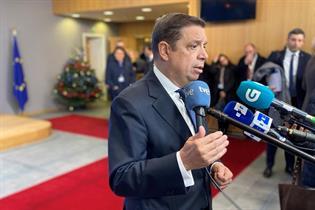 Luis Planas atiende a los medios de comunicación al inicio del Consejo
