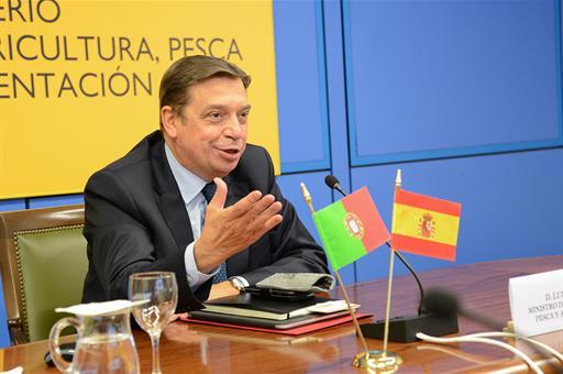 Luis Planas durante la videoconferencia