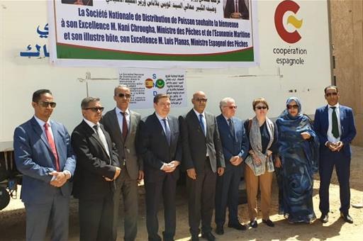 Luis Planas durante su visita de trabajo a Mauritania
