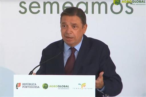 El ministro Planas durante su intervención
