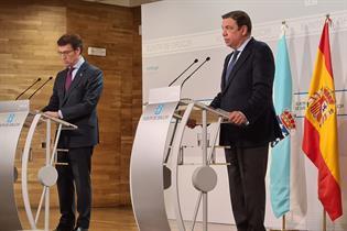 El ministro Planas comparece junto al presidente Feijoó ante los medios de comunicación