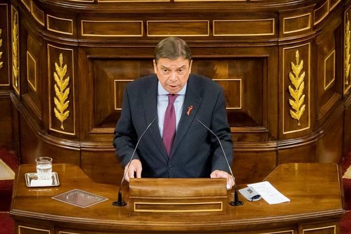 El ministro Luis Planas, en la tribuna del Congreso