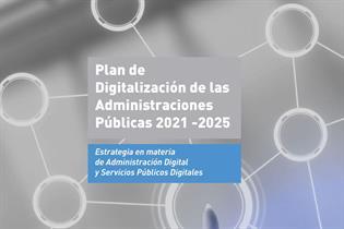 Cartela del Plan de Digitalización de las Administraciones Públicas