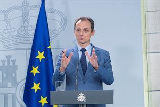 El ministro de Ciencia e Innovación, Pedro Duque, durante su intervención