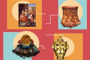 Muestras de obras expuestas en el Museo de América