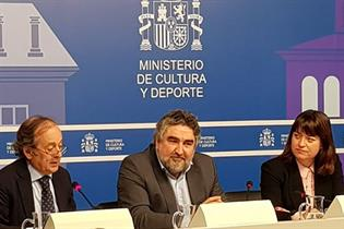 El ministro Rodríguez Uribes, en la presentación del barómetro de hábitos de lectura y compra de lectura en España