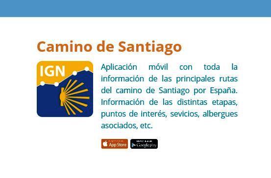 Aplicación del Instituto Geográfico Nacional para el Camino de Santiago