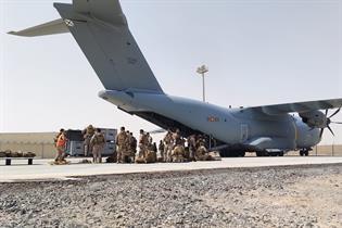 Avión preparado para la evacuación de Afganistán