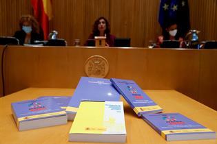 La ministra de Hacienda, María Jesús Montero, durante la presentación de los PGE 2022
