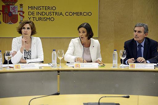 Reyes Maroto durante el pleno del Consejo Español de Turismo