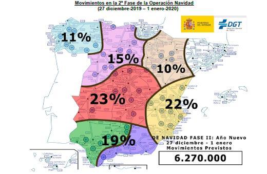 Mapa de previsión de desplazamientos
