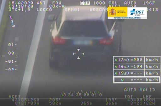 Imágenes del control de velocidad de la DGT