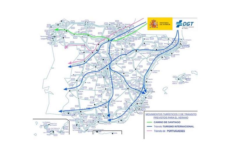 Mapa de movimientos turísticos