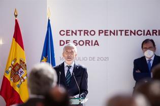 Fernando Grande-Marlaska durante su intervención