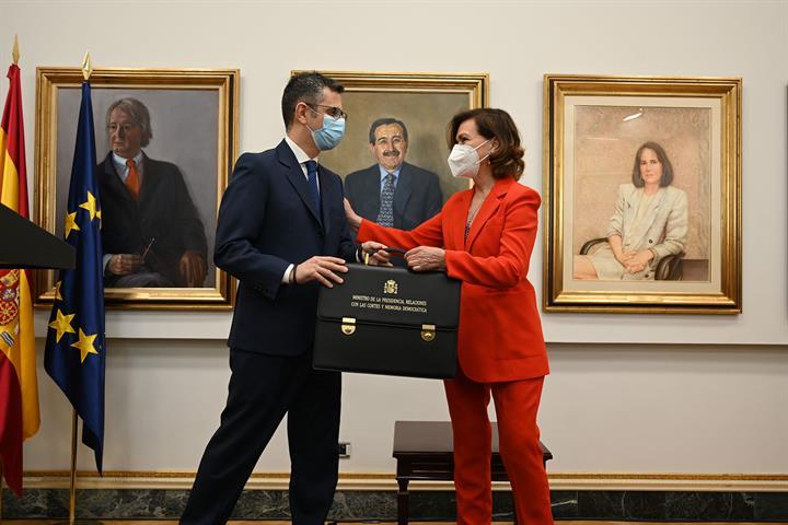 Félix Bolaños toma posesión como ministro de la Presidencia, Relaciones con las Cortes y Memoria Democrática