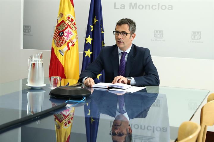 Félix Bolaños durante la reunión