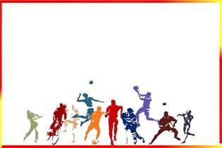 Dibujo con diferentes deportes