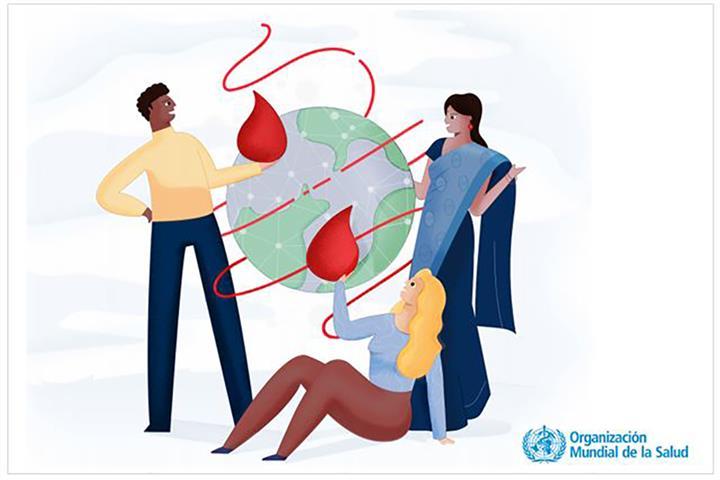 Cartel de la campaña del Día Mundial del Donante de Sangre 2019