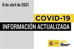 Cartela COVID-19-Información actualizada 06 de abril de 2021
