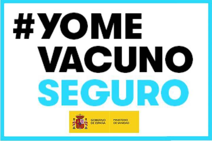 Cartel Yo me vacuno seguro