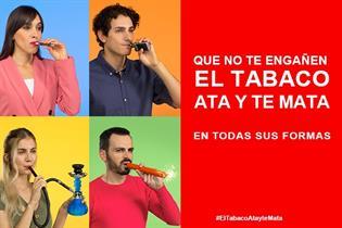 cartela de El tabaco ata y te mata