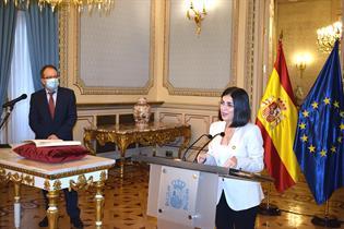 La ministra Carolina Darias durante su intervención