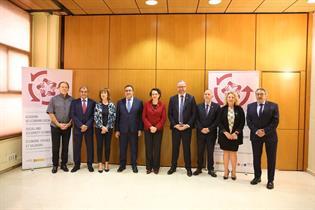 Foto de familia del acto de apertura de XI Edición Academia de Economía Social y Solidaria