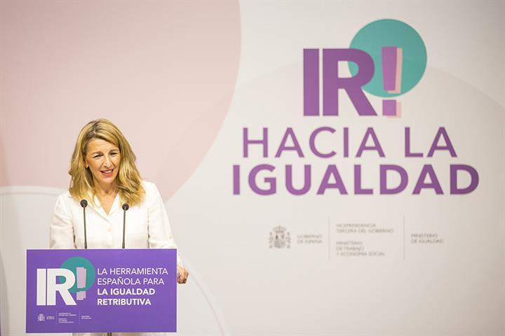 La vicepresidenta tercera y ministra de Trabajo y Economía Social, Yolanda Díaz, en la presentación