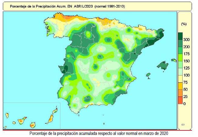 Precipitación acumulada marzo 2020