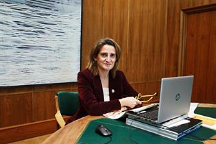La vicepresidenta dcuarta del Gobierno y ministra para la Transición Ecológica y el Reto Demográfico, Teresa Ribera