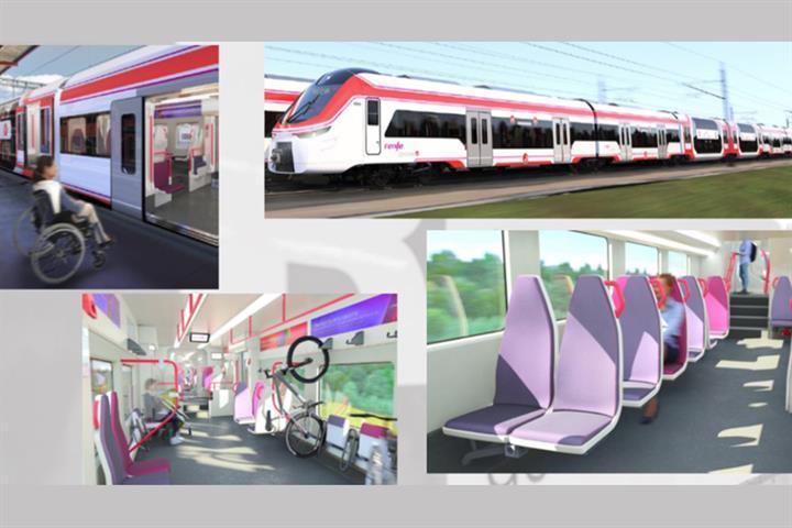 Raquel Sánchez supervisa el avance de la fabricación de 152 trenes que renovarán la flota de cercanías y media distancia de RENFE
